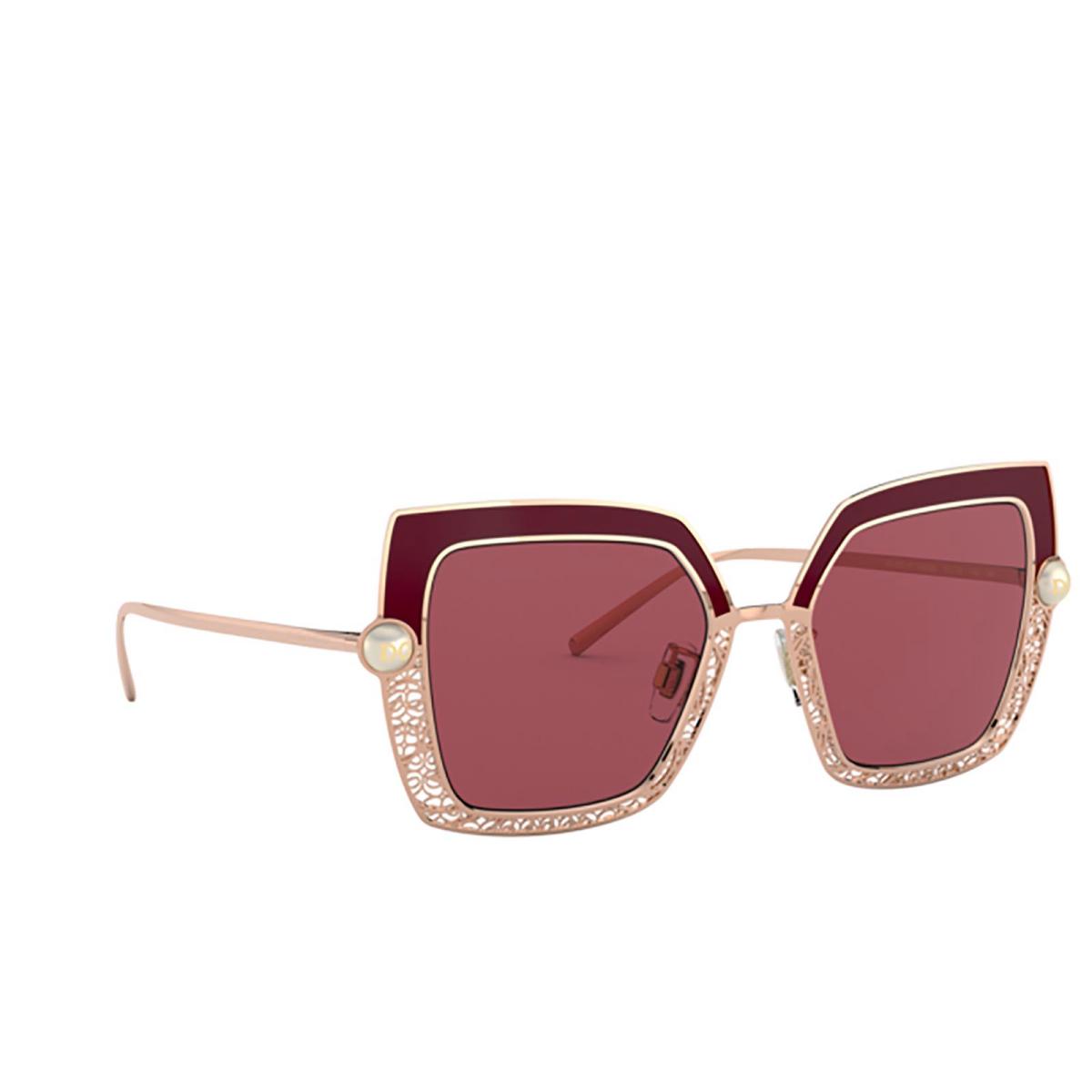 Dolce & Gabbana® Square Sunglasses: DG2251H color Bordeaux 133369.
