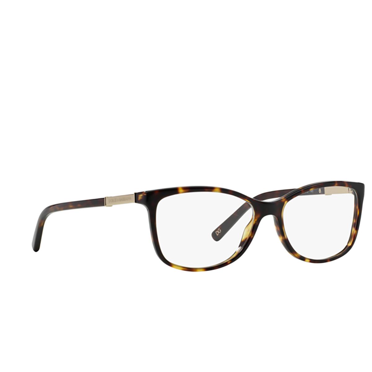 Dolce & Gabbana® Square Eyeglasses: DG3107 color 502 - three-quarters view.
