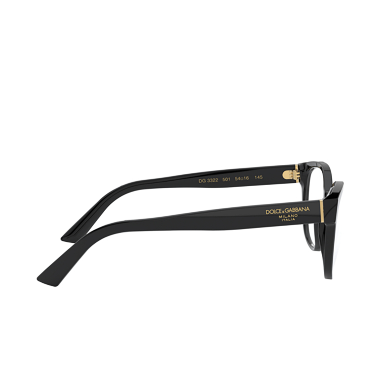 Dolce & Gabbana® Butterfly Eyeglasses: DG3322 color Black 501.
