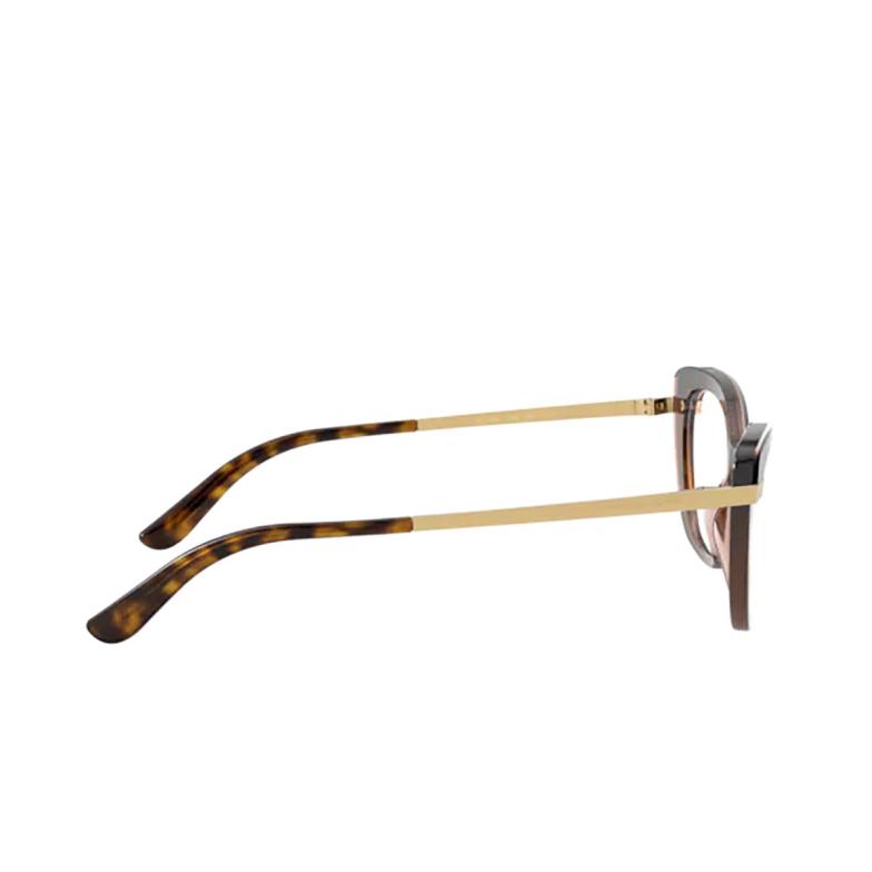 Dolce & Gabbana® Cat-eye Eyeglasses: DG3325 color Havana On Transparent Brown 3256.