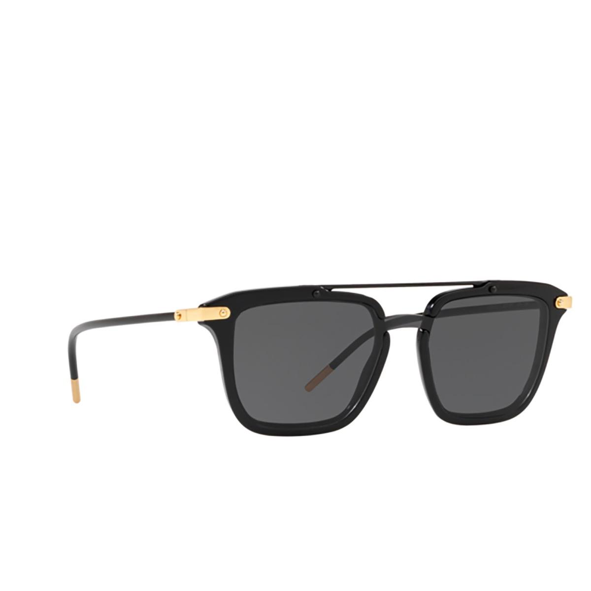 Dolce & Gabbana® Square Sunglasses: DG4327 color Black 501/87 - 2/3.