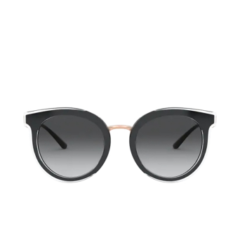 Dolce & Gabbana® Round Sunglasses: DG4371 color Top Crystal On Black 53838G.