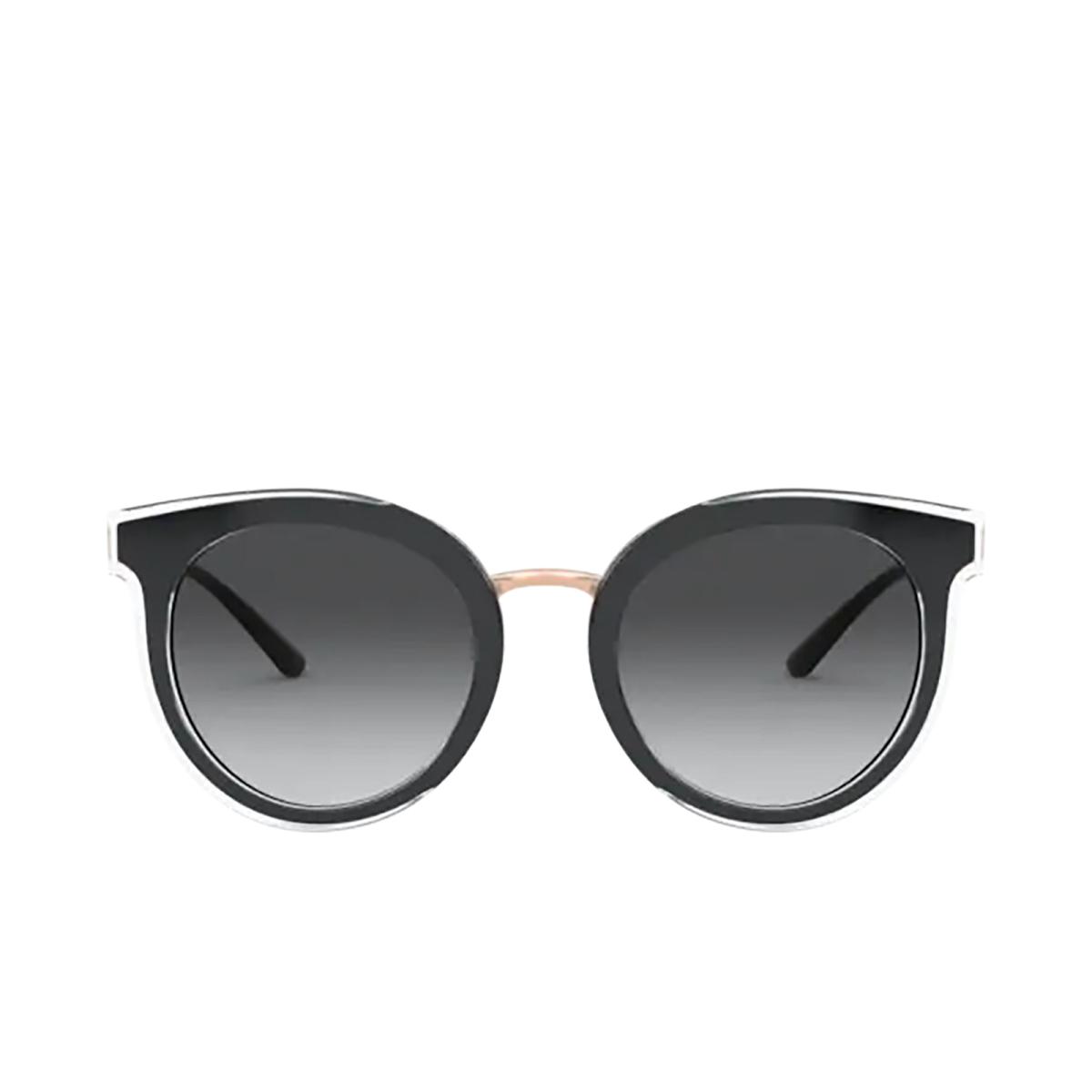 Dolce & Gabbana® Round Sunglasses: DG4371 color Top Crystal On Black 53838G.