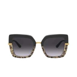 Dolce & Gabbana® Sunglasses: DG4373 color Top Black On Print Leo / Black 32448G.