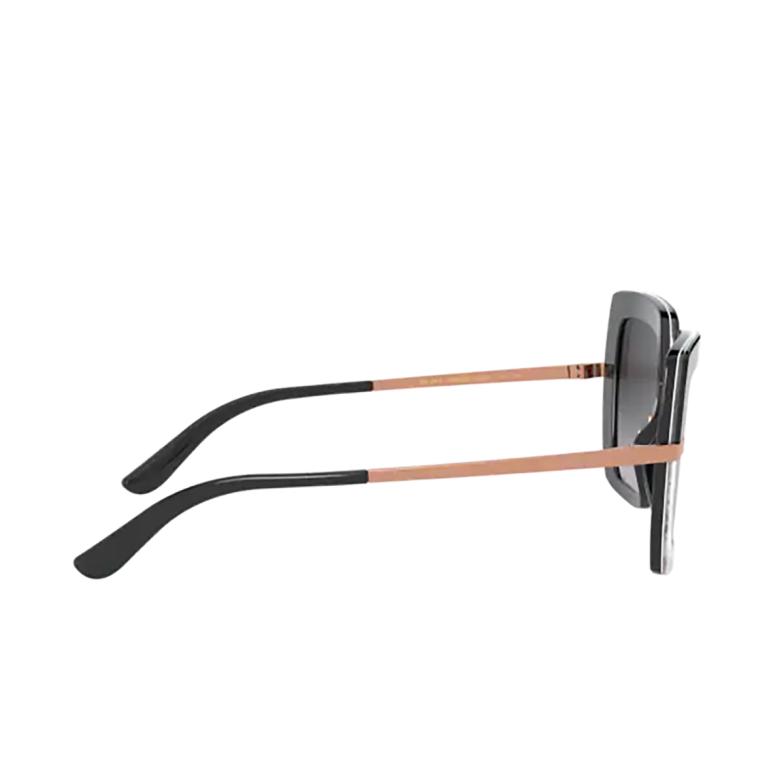 Dolce & Gabbana® Square Sunglasses: DG4373 color Top Black On Print Rose / Black 32508G.