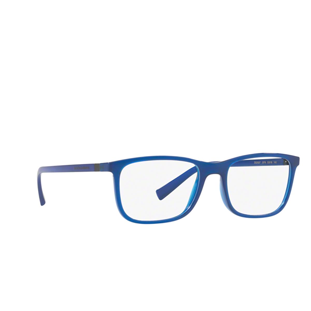 Dolce & Gabbana® Rectangle Eyeglasses: DG5027 color Transparent Blue 2578.
