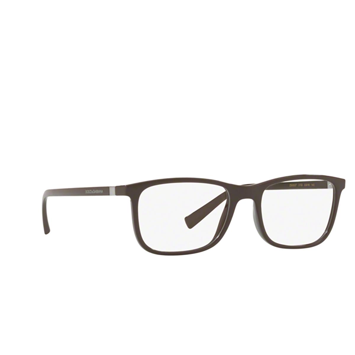 Dolce & Gabbana® Square Eyeglasses: DG5027 color 3159 - three-quarters view.