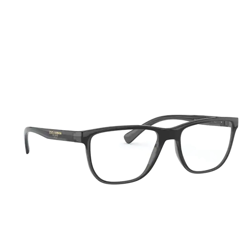 Dolce & Gabbana® Rectangle Eyeglasses: DG5053 color Transparent Grey / Black 3257.