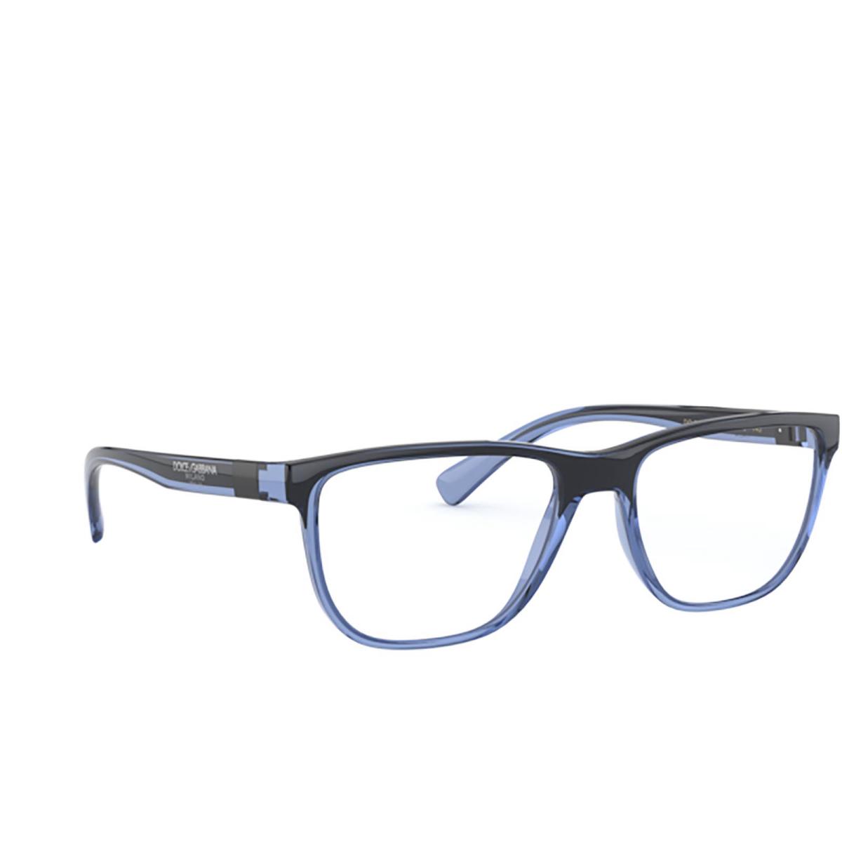 Dolce & Gabbana® Rectangle Eyeglasses: DG5053 color Transparent Blue / Black 3258.