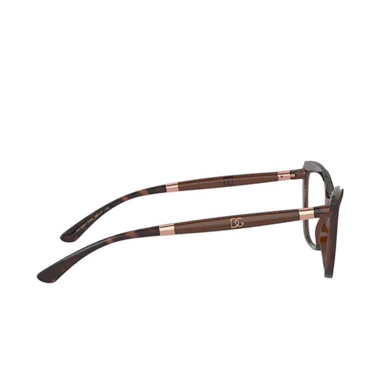 Dolce & Gabbana® Cat-eye Eyeglasses: DG5054 color Havana On Transparent Brown 3185.