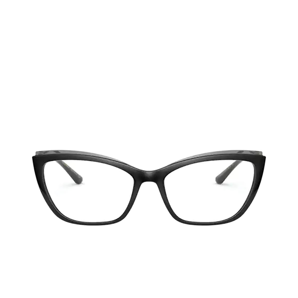Dolce & Gabbana® Cat-eye Eyeglasses: DG5054 color Black On Transparent Grey 3246.