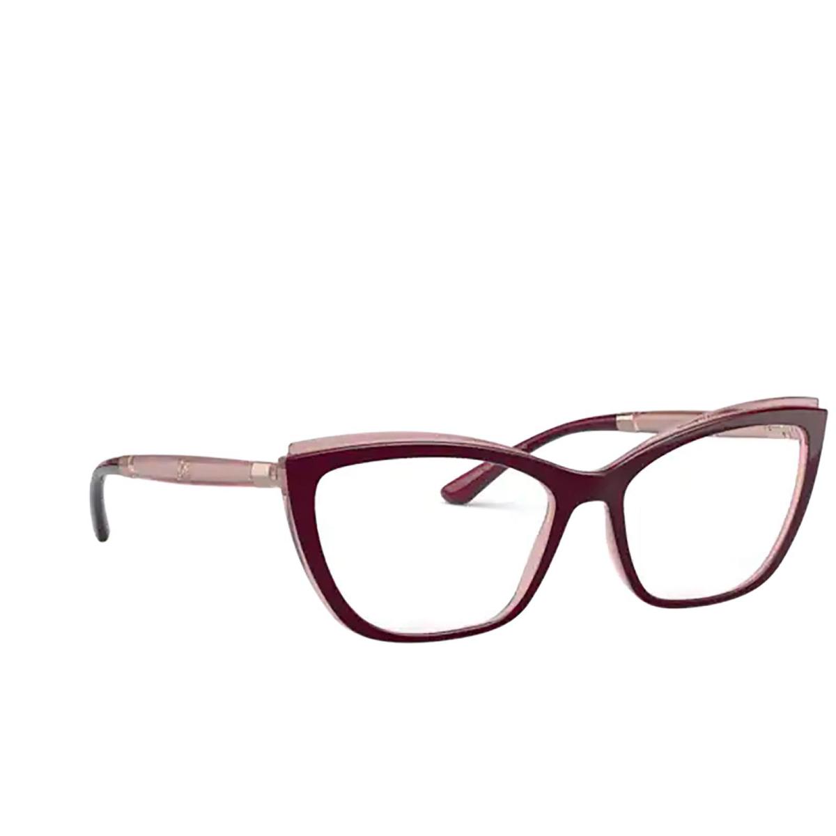 Dolce & Gabbana® Cat-eye Eyeglasses: DG5054 color Bordeaux On Transparent Pink 3247.