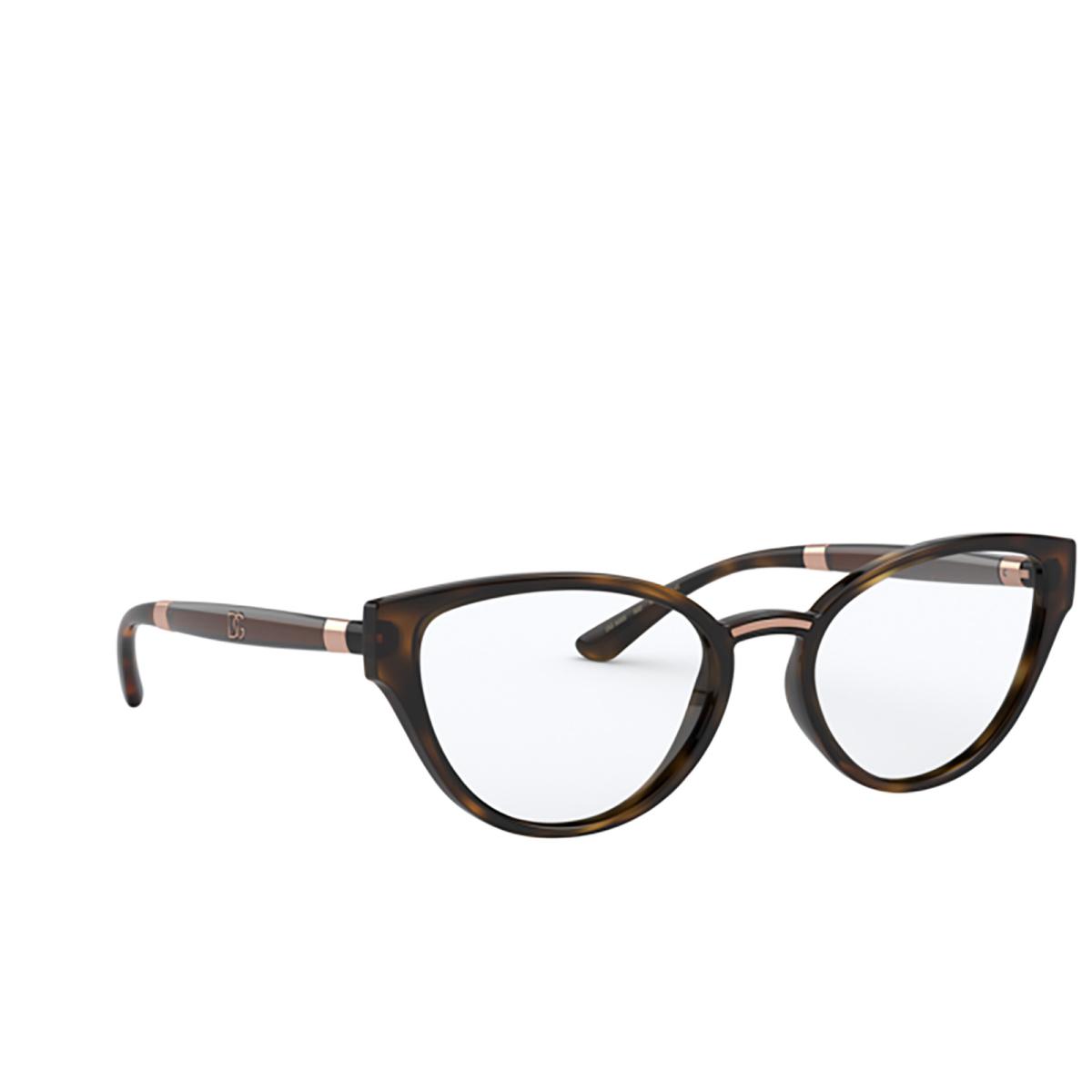 Dolce & Gabbana® Cat-eye Eyeglasses: DG5055 color Havana 502.