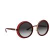 Dolce & Gabbana® Round Sunglasses: DG6127 color Transparent Red 550/8G - product thumbnail 2/3.