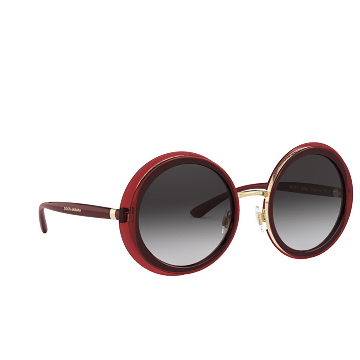 Dolce & Gabbana® Round Sunglasses: DG6127 color Transparent Red 550/8G - 2/3.
