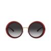 Dolce & Gabbana® Round Sunglasses: DG6127 color Transparent Red 550/8G - product thumbnail 1/3.