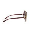 Dolce & Gabbana® Round Sunglasses: DG6127 color Transparent Red 550/8G - product thumbnail 3/3.