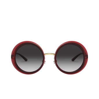 Dolce & Gabbana® Round Sunglasses: DG6127 color Transparent Red 550/8G.