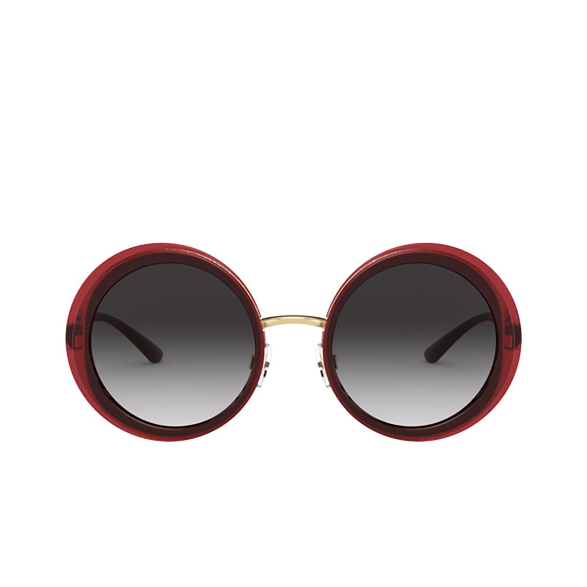 Dolce & Gabbana® Round Sunglasses: DG6127 color Transparent Red 550/8G - 1/3.