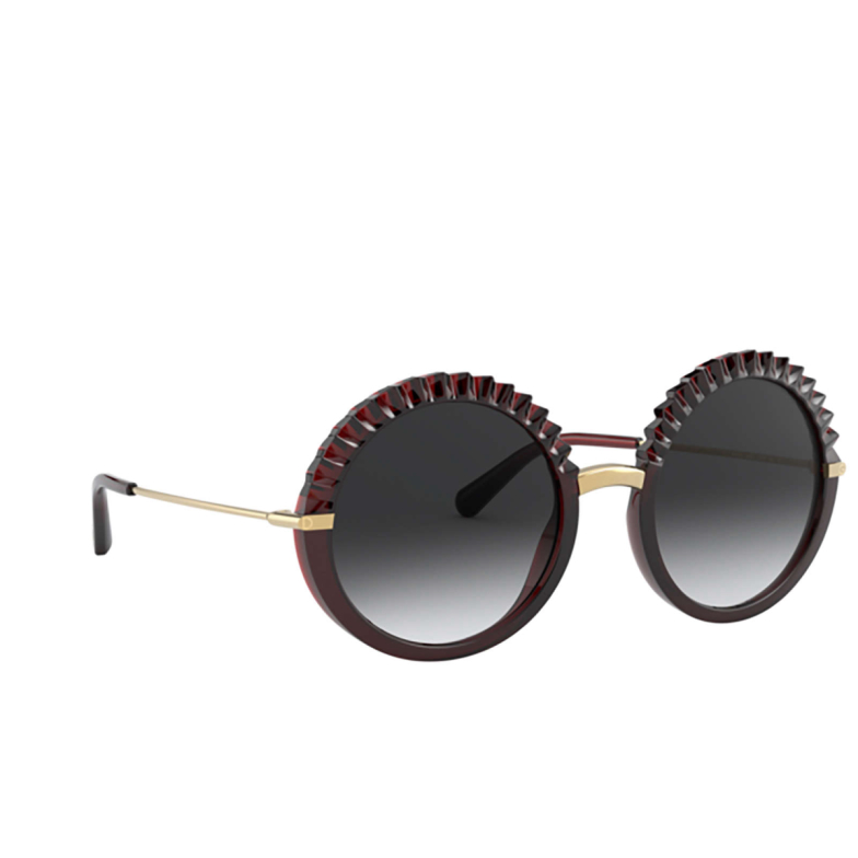 Dolce & Gabbana® Round Sunglasses: DG6130 color Transparent Red 550/8G.