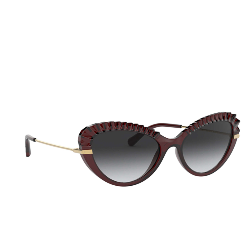 Dolce & Gabbana® Cat-eye Sunglasses: DG6133 color Transparent Red 550/8G.