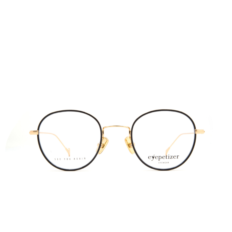 Eyepetizer® Round Eyeglasses: Alain color Black C 4-F.