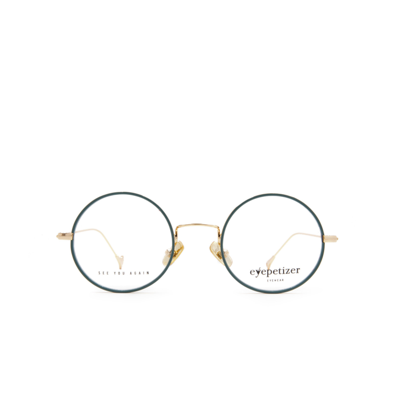Eyepetizer® Round Eyeglasses: Anais color Sage Green C 4-B.