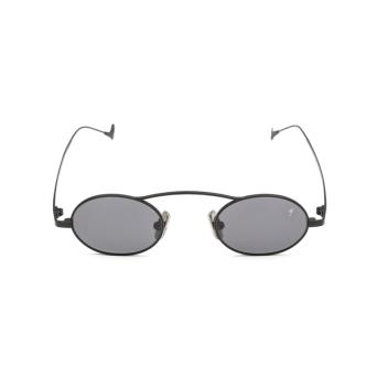 Eyepetizer® Oval Sunglasses: Birkin color Gunmetal C.6-7.
