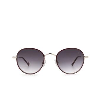 Eyepetizer® Round Sunglasses: Cinq color Bordeaux C.1-C-P-27.