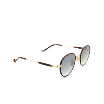 Eyepetizer® Round Sunglasses: Cinq color Havana C.4-M-I-25F.