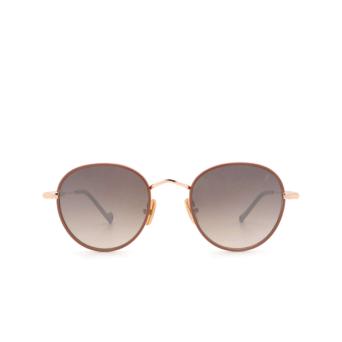 Eyepetizer® Round Sunglasses: Cinq color Pinkish Brown C.9-E-J-18F.