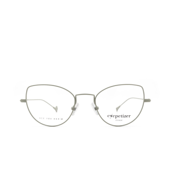 Eyepetizer® Cat-eye Eyeglasses: Denise color Matt Green C.10.
