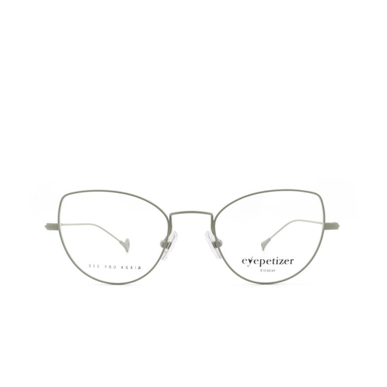 Eyepetizer® Cat-eye Eyeglasses: Denise color Matt Green C.10.