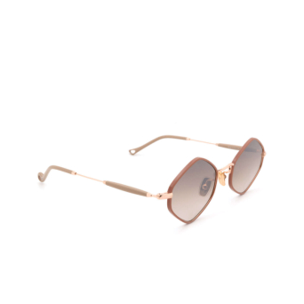 Eyepetizer® Irregular Sunglasses: Deux color Pinkish Brown C.9-E-J-18F.