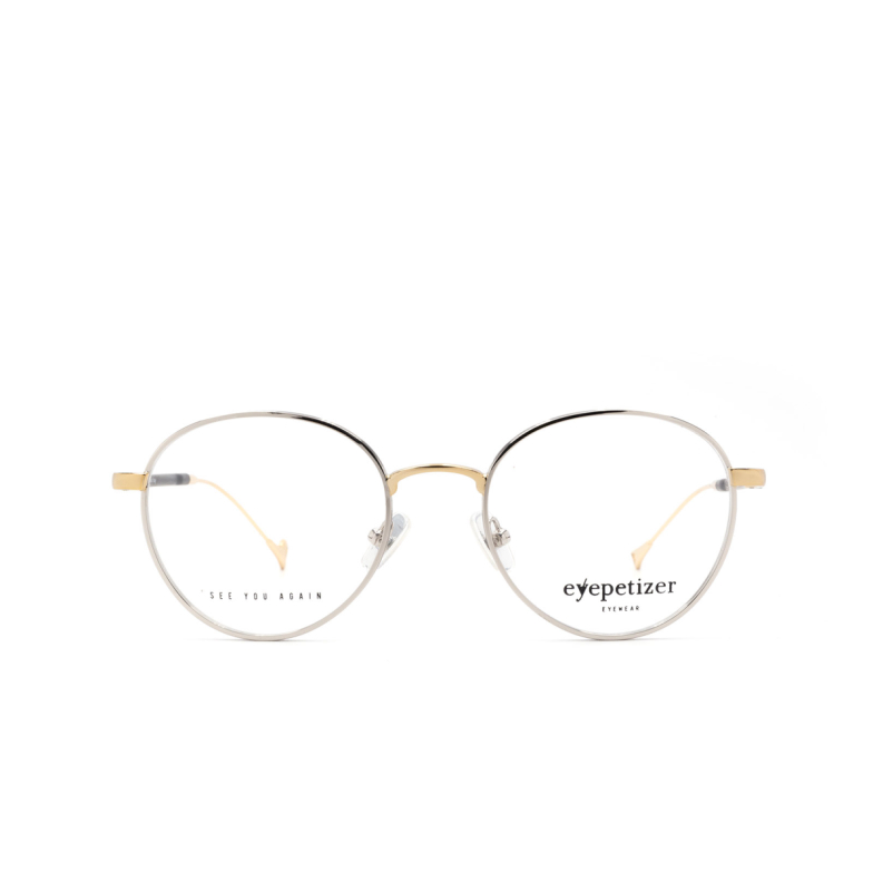 Eyepetizer® Round Eyeglasses: Ector Optical color Silver / Gold C 1/4A.
