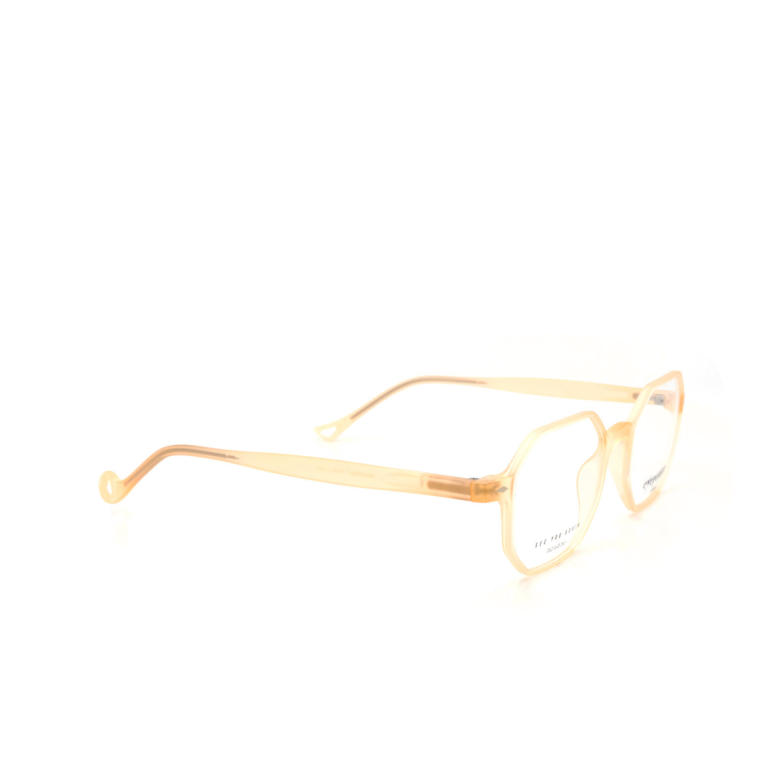 Eyepetizer® Irregular Eyeglasses: Gabriele color Matte Honey C B-b.