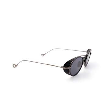 Eyepetizer® Oval Sunglasses: Helen color Matte Black C. A 3-7.