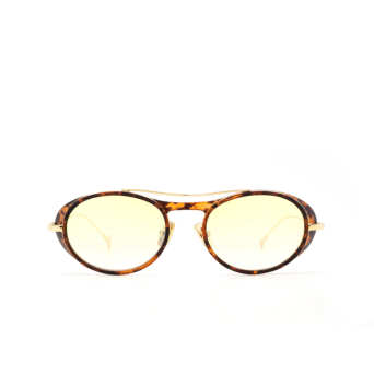 Eyepetizer® Oval Sunglasses: Helen color Matte Havana C. G-14F.
