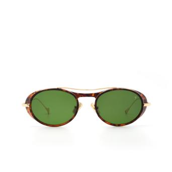 Eyepetizer® Oval Sunglasses: Helen color Matte Havana C. G 4-1.