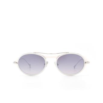 Eyepetizer® Oval Sunglasses: Helen color Matte White C. L 1-17F.