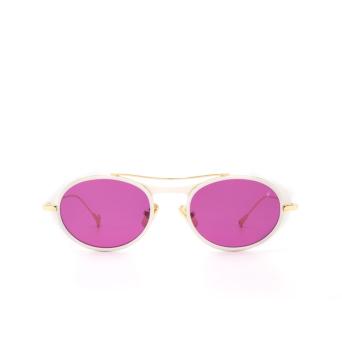 Eyepetizer® Oval Sunglasses: Helen color Matte White C. L 4-3.