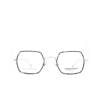 Eyepetizer® Square Eyeglasses: Hugo color Blue Havana C 1-K.