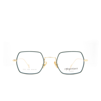Eyepetizer® Square Eyeglasses: Hugo color Sage Green C 4-B.
