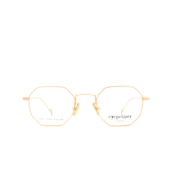 Eyepetizer® Irregular Eyeglasses: Ian color Matte Gold C 4-OP.