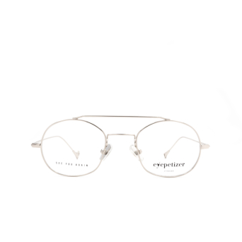 Eyepetizer® Irregular Eyeglasses: Luis color Silver C 1.