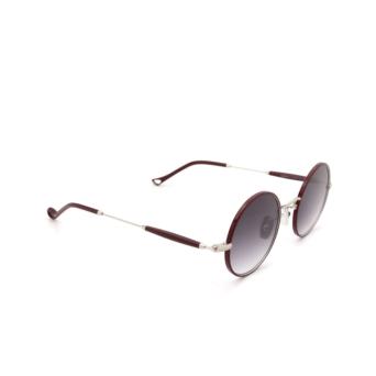 Eyepetizer® Round Sunglasses: Quatre color Bordeaux C.1-C-P-27.