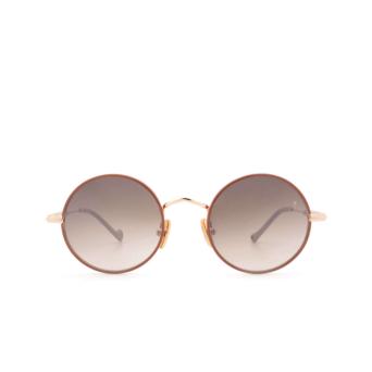 Eyepetizer® Round Sunglasses: Quatre color Pinkish Brown C.9-E-J-18F.
