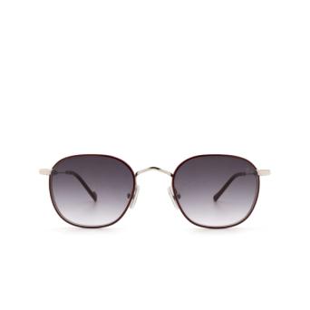Eyepetizer® Square Sunglasses: Trois color Bordeaux C.1-C-P-27.