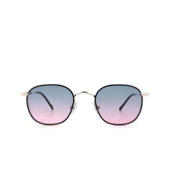 Eyepetizer® Square Sunglasses: Trois color Black C.1-F-A-20.