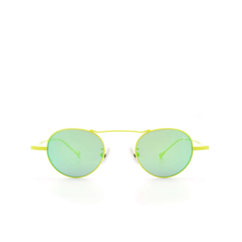 Eyepetizer® Round Sunglasses: Yves color Green Lime C.12-36.